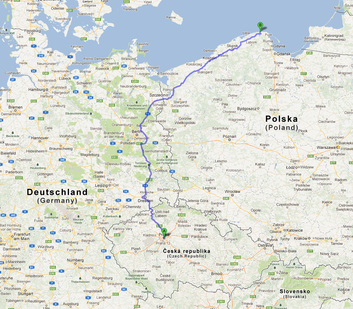 Transport - Prague-Berlin-Debki